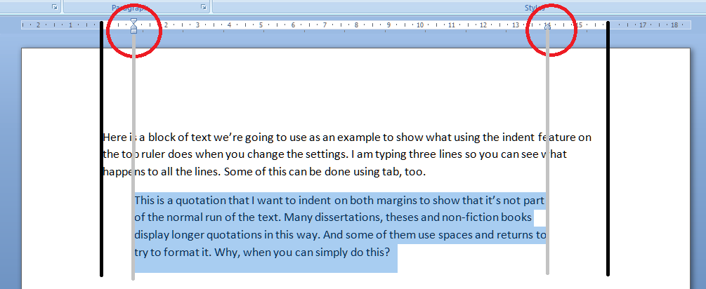 how to show margins in word south53