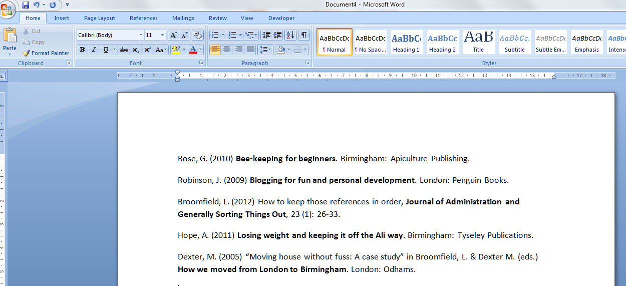 How to do bibliography on microsoft word