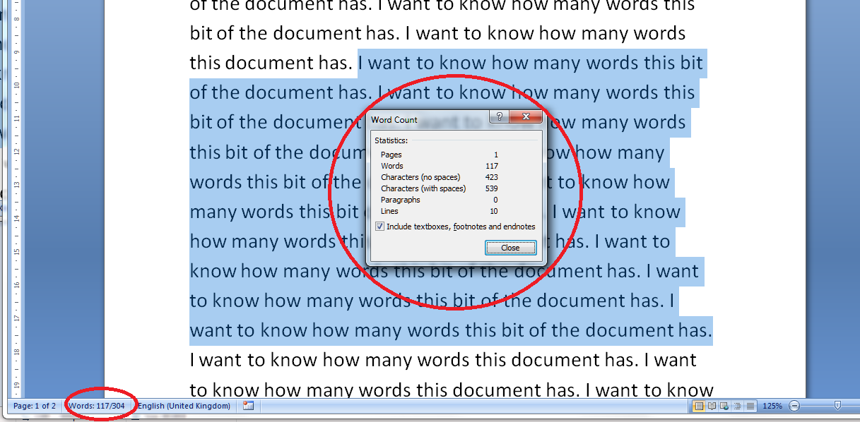 how do i count the words in my word document  how do i count