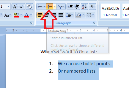 how to change the bullet points in word