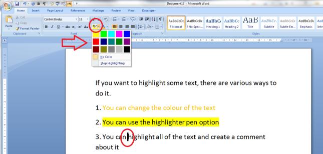 5 highlighter pen