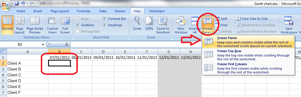 Excel libroediting proofreading editing transcription 6 freeze row and columnt ccuart Images