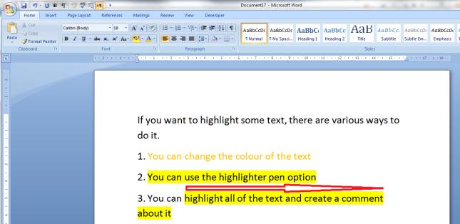 6 highlighter pen effect