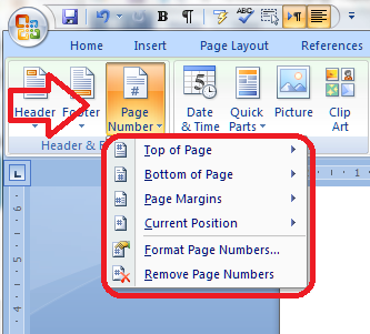 3 page numbering options