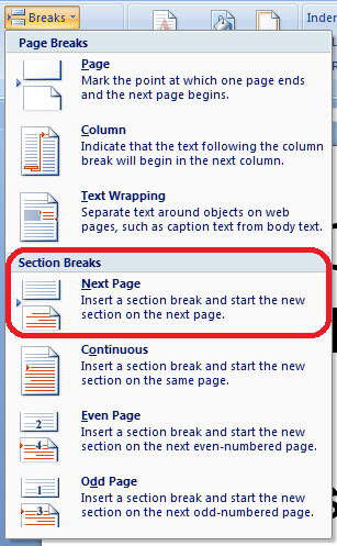 how to add page numbers to a word document