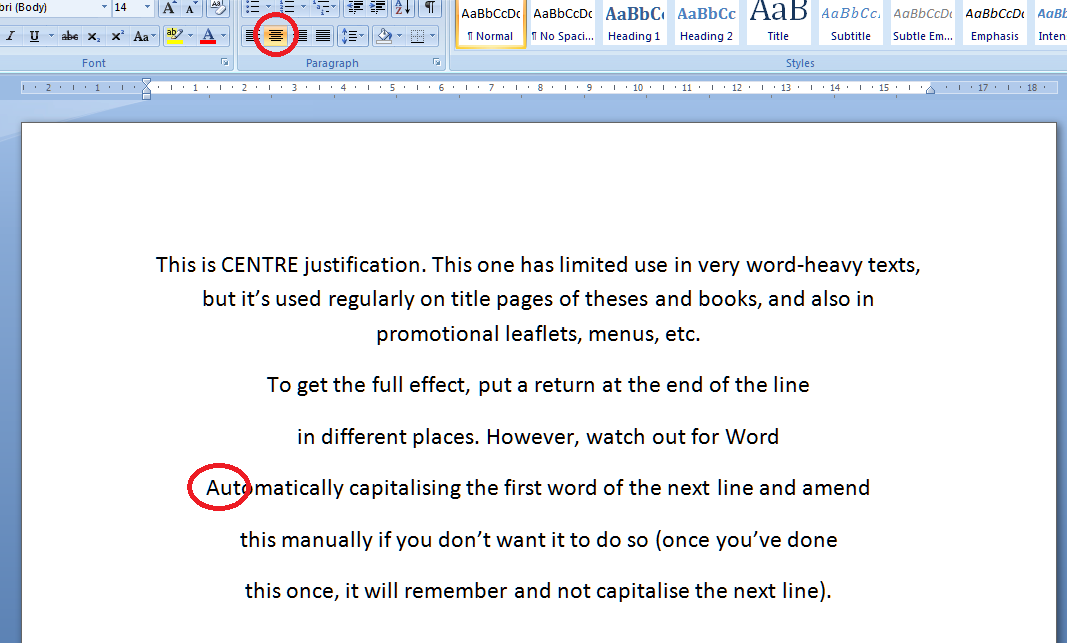 Justification in Word documents | LibroEditing ...