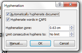 6 hyphenation options