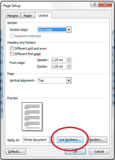 how to add text lines to a word document