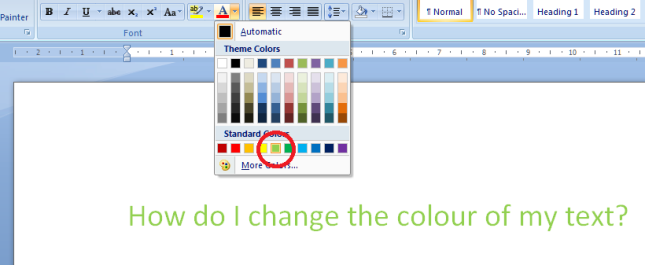 5 change colour