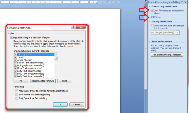 how to allow edit word document 2013