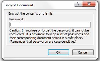 Word 2007 2 add password