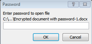 Word 2007 2a add password
