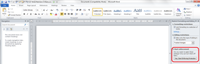 Word 2010 11 restrict editing