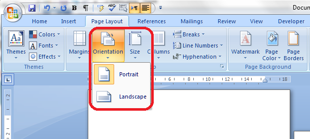 Portrait and landscape orientation in word and excel 3 menu ccuart Gallery