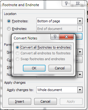 Word Convert Endnotes To Footnotes
