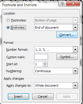 manually insert page numbers in word