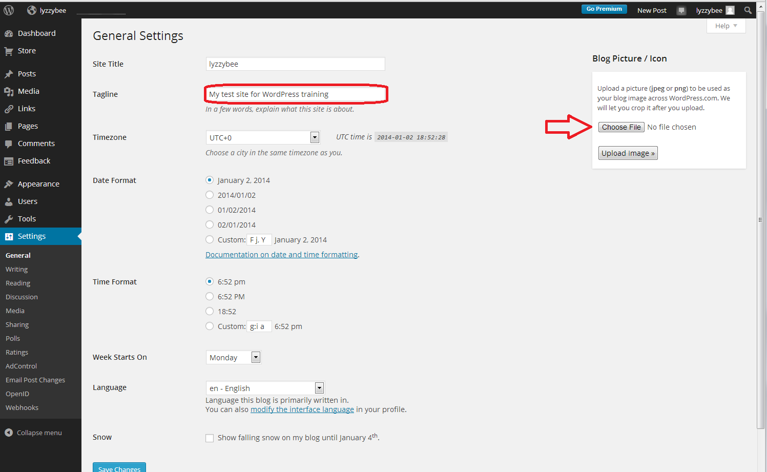 how to set up a wordpress blog adding your profile picture or 14 setup