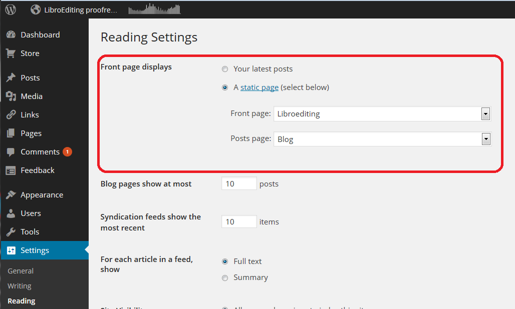 80af4d0126 How to set up a WordPress blog 2  adding pages to make it into a ...