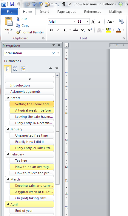 Word 2010 simple find options 1
