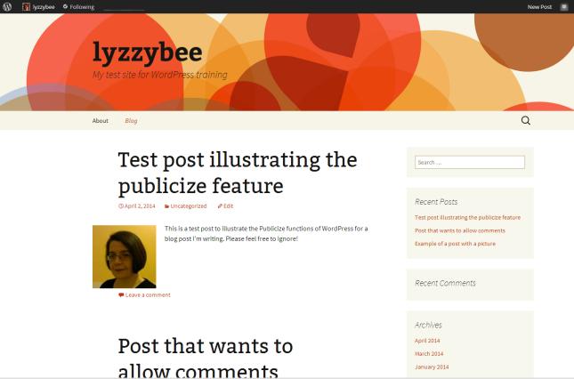 Blog page set up