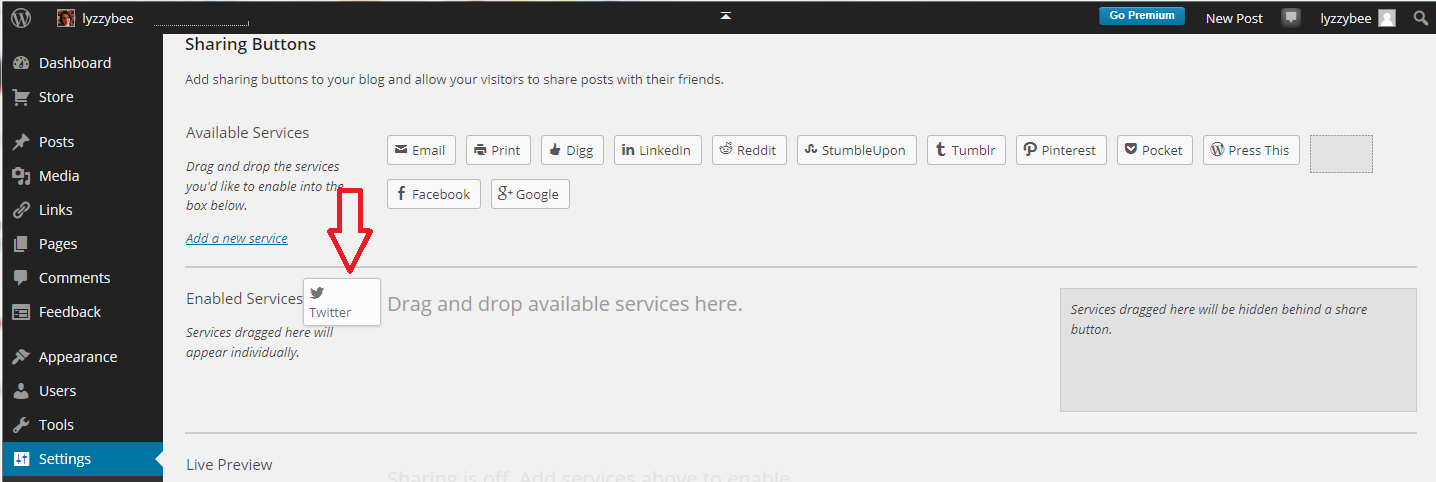 Setting up a WordPress blog 6: Adding sharing buttons to