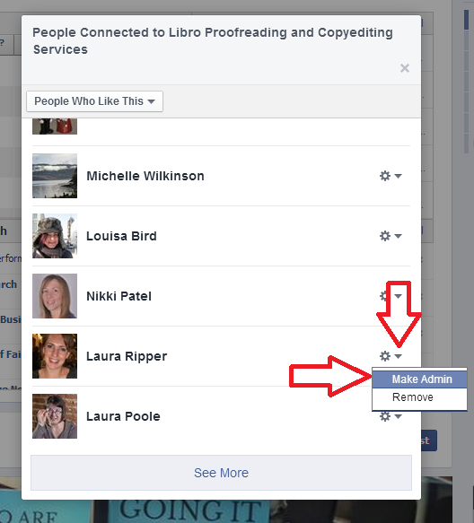 How to add an admin or moderator to your Facebook business page |  LibroEditing proofreading, editing, transcription, localisation