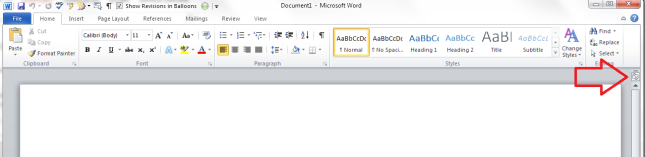view ruler in word