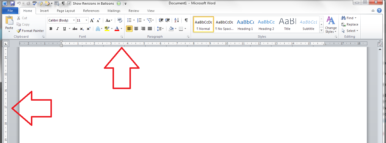 how to show ruler in word 2010 mac