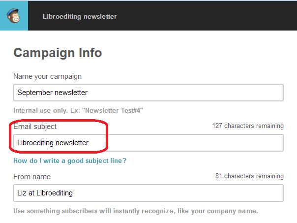 MailChimp campaign info page