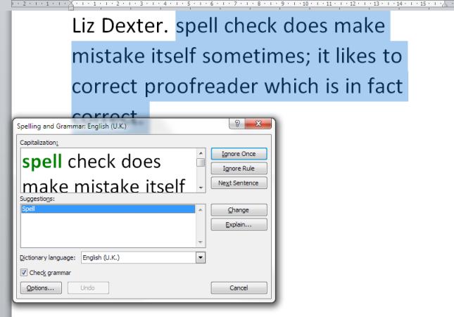 spell check grammar check
