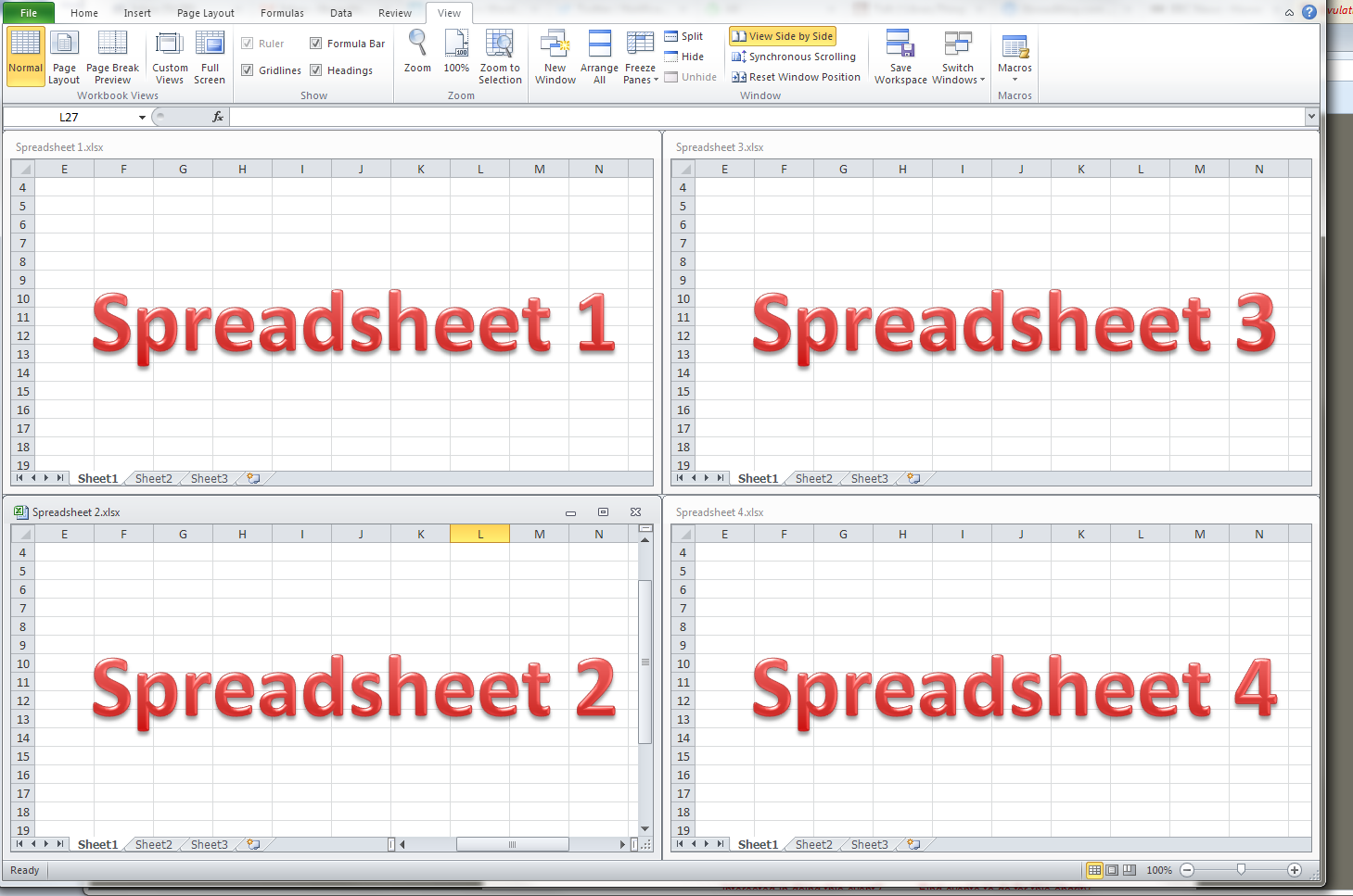 How do i view two excel spreadsheets at a time libroediting excel arrange all tiled option ibookread ePUb
