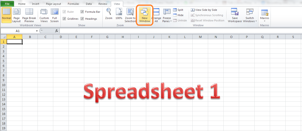 How do I view two sheets of an Excel workbook at the same time – Workbook Vs Worksheet