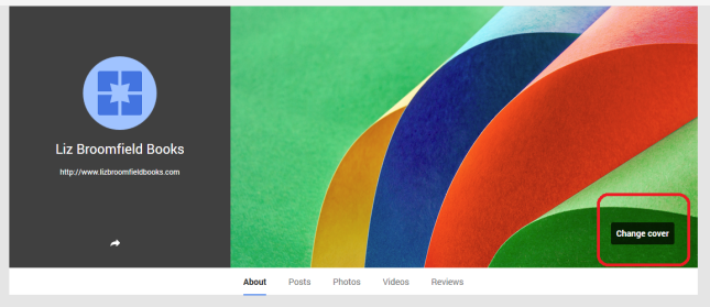 Google+ page change background