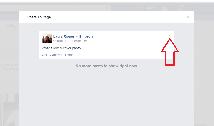 How do i delete a post or ban a user on a facebook page posts to page view facebook ccuart Gallery