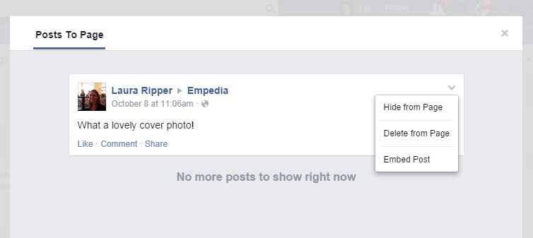 How do i delete a post or ban a user on a facebook page delete post to facebook page ccuart Image collections