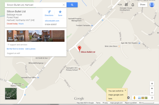Google+ pages on Google Maps