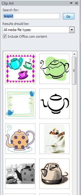 clip art search results