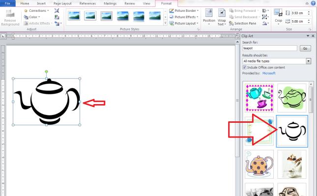 clip art insert image