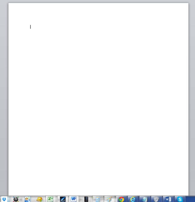 Just a document, no toolbars