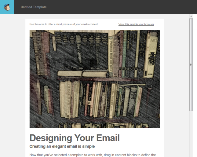 MailChimp customise template add image