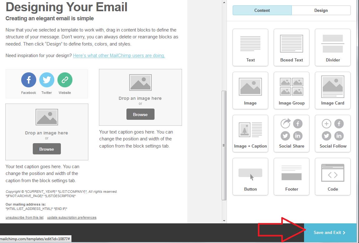 Background image mailchimp - Mailchimp Template Save