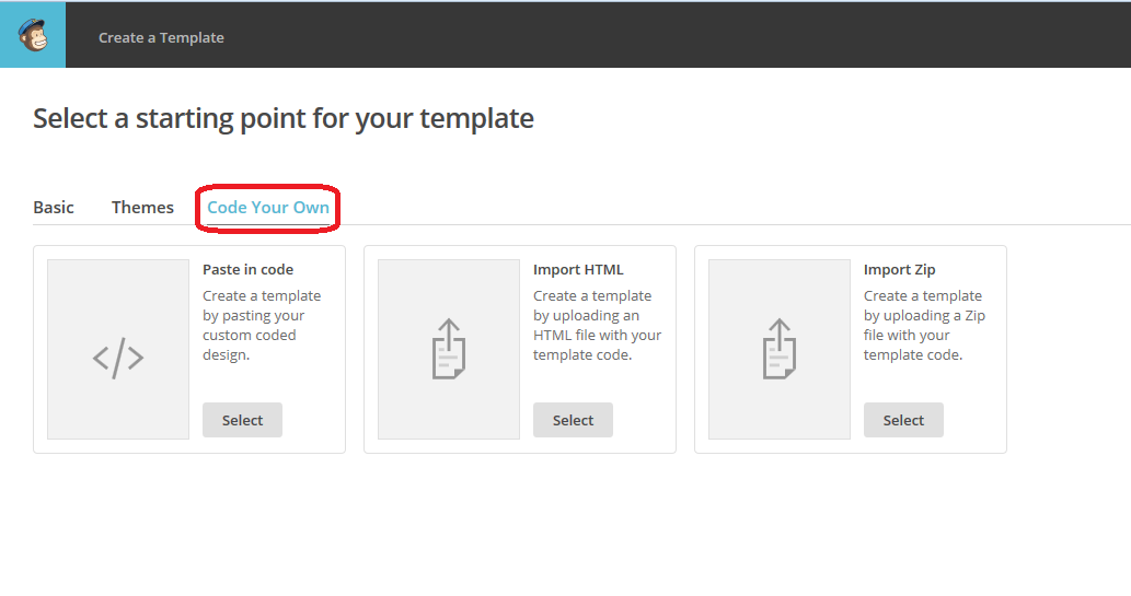 how to create a template