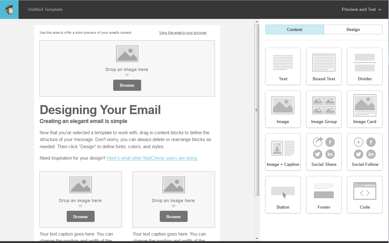 MailChimp How To Create A Template For Your Newsletter - Mailchimp template code