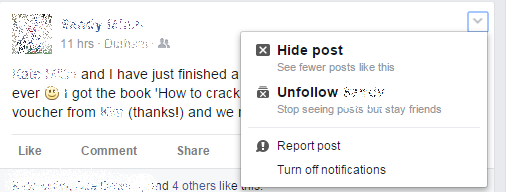 How to hide photo in facebook