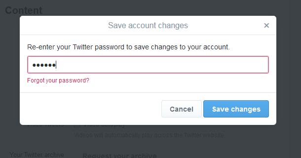 7 twitter settings