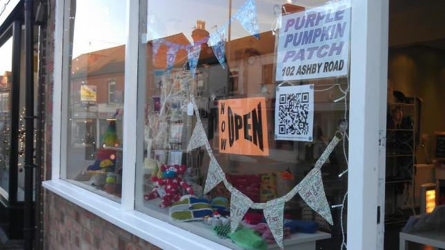 Purple Pumpkin Patch craft shop gift shop Loughborough