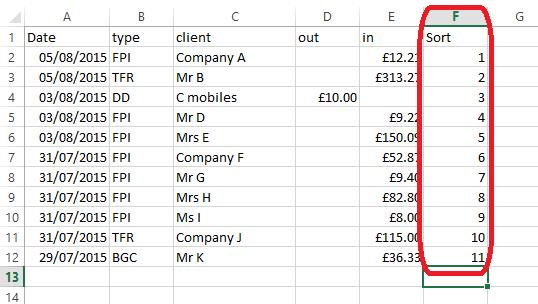 2 sort column