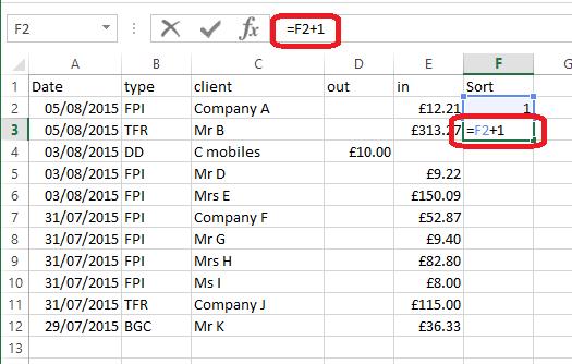 2a sort column
