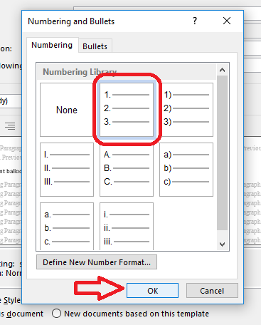 Word 2013 2016 choose numbering scheme for comments