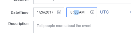 change facebook event time